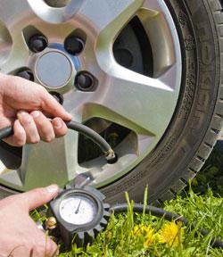 Rätt lufttryck i däcken är bra för både säkerhet och miljö